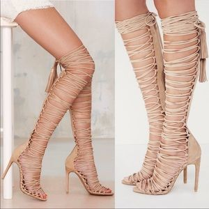 Free People x Jeffrey Campbell Lace Up Heels
